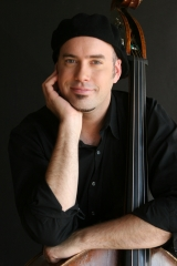 <h5>David With Upright bass</h5><p>Photo by Robin Ganter</p>